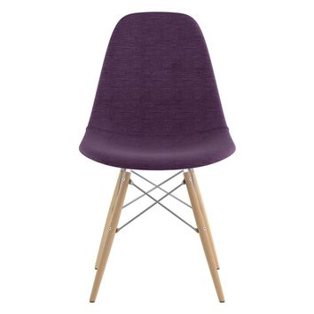 Mid Century Dowel Side Chair Plum Purple