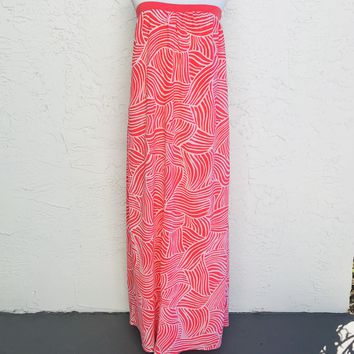 Old Navy Strapless Shift Maxi Dress, Size Medium