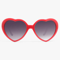 'Katy Perry 2' Oversized Heart Sunglasses - Red #5207-1