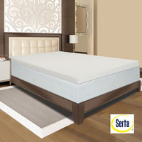 Serta Ultimate 4-inch Visco Memory Foam Mattress Topper | Overstock.com