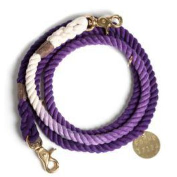 Adjustable Leash Purple Ombre by Found My Animal at Baysidebuddy.com
