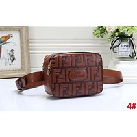 FENDI New Popular Women Men Leather Purse Waist Bag Single-Shoulder Bag Crossbody Satchel 4#