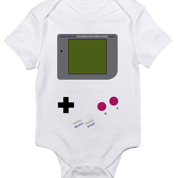 Game Boy Baby Clothes Infant Bodysuit Jumper Shower Gift cute Fun Cool Mom Christmas Gamer NES Video Game Funny Hipster Pregnant Nerd Geek