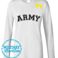 Custom Army Long Sleeve, Military Shirt for Wife, Fiance, Girlfriend, Mom, Sister