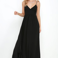 On the Silver Screen Black Maxi Dress