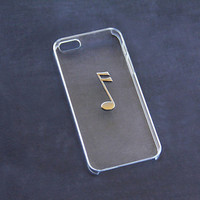 Transparent iPhone Case, Clear iPhone 5c Cases, Piano Notes, Musical Note, Hipster iPhone Cases, Trendy iPhone 5 Case, Simple iPhone Case