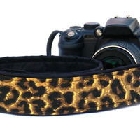 Cheetah Print Camera Strap. dSLR Camera Strap