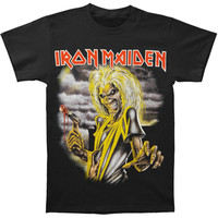 Iron Maiden Men's  Killers T-shirt Black Rockabilia