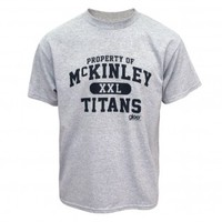 GLEE PROPERTY OF MCKINLEY TITANS T-SHIRT [GRAY]