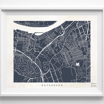 Gateshead Print, England Print, Gateshead Poster, England Poster, United Kingdom, Dorm Decor, Anniversary Gift, Home Decor, Halloween Decor