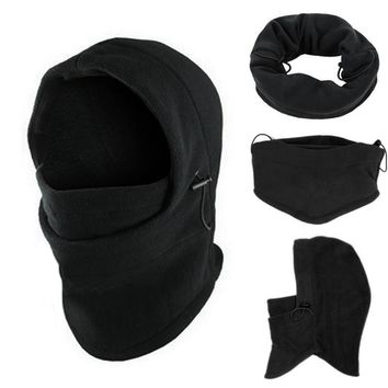 snowshine4 #4522 6 in1 Neck Balaclava Winter Face Hat Fleece Hood Ski Mask Warm Helmet