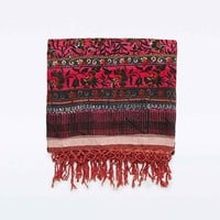 High Vibes Blanket in Red - Urban Outfitters