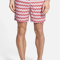 Men's Mr. Swim Inverted Zip Print Board Shorts