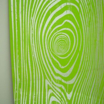 LIME Faux Bois Wood Grain Steel Memo/Magnet/Dry by ekohdesign
