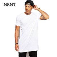 PEAPFS2 2018 Brand New Men's Clothing White long t shirt Hip hop StreetWear t-shirt Extra Long Length Tee Tops long line tshirt