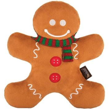 Holiday Classic Gingerbread Man Dog Plush Toy