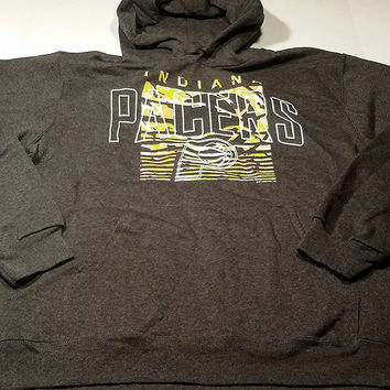 Indiana Pacers Majestic Pullover Hooded Sweatshirt Camo Size L
