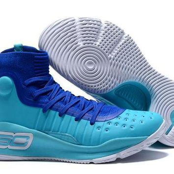 DCCKL8A Jacklish Charlotte Hornets Under Armour Curry 4 Father To Son Blue Teal For Sale