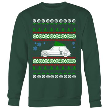 Renault R5 Turbo Ugly Christmas Sweater, hoodie and long sleeve t-shirt