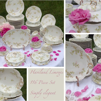 116 Piece Haviland Limoge China set Schleiger 74a made in France