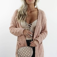Can't Change It Chunky Blush Cardigan