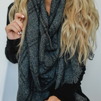 Simber Scarf - Charcoal