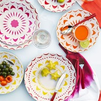 Bright Shapes Melamine Plates