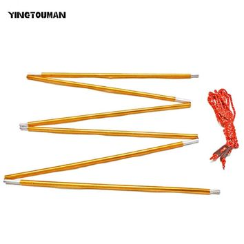 YINGTOUMAN  2pcs/set Outdoor Tent Rod Camping pole Tent Awning For Sun Shelter Beach Tent With 2 Wind Rope