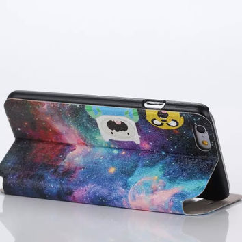 Beautiful Galaxy ET creative case Cover for iPhone 6S 6 Plus Samsung Galaxy S6