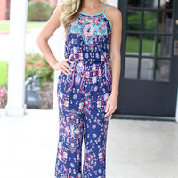Jump into Style Jumpsuit - Navy