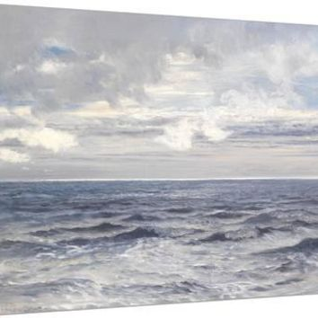 Silver Sea, 1869 Stretched Canvas Print by Henry Moore at Art.com