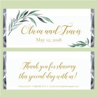 Greenery Wedding Candy Bar Wrappers
