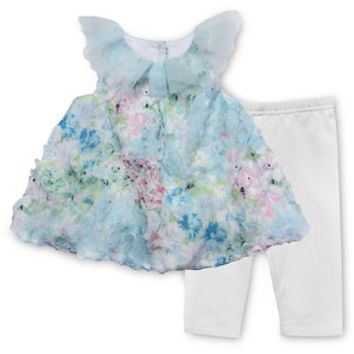 Pippa & Julie™ 2-Piece Floral Bubble Tunic and Legging Set