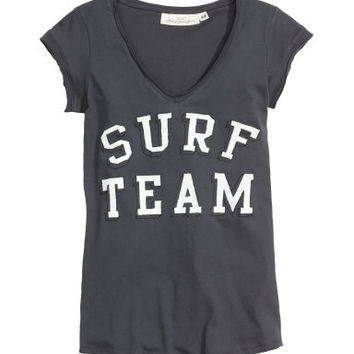 H&M Jersey Top with Printed Design $12.95