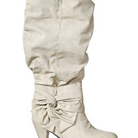 rue21 : SIDE KNOT BOW HEEL BOOT