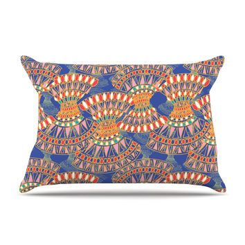 "Miranda Mol ""Energy"" Orange Blue Abstract Pillow Sham"