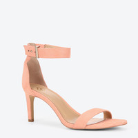 Alaina Suede Ankle Strap Sandals