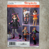 Simplicity Pattern 2509 Girl's Costume Witch, Gypsy, Pirate, Dancer