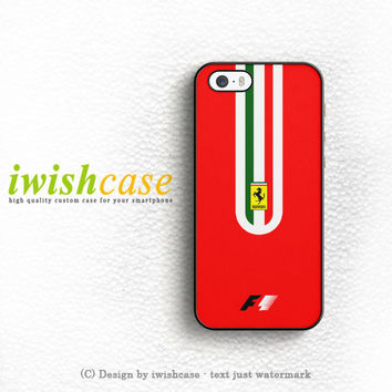 Fernando Alonso F1 Ferrari Scuderia Team iPhone 5 5S 5C Case Cover