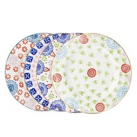 Boho Boutique™ Floral Ceramic Salad Plate Set of 4