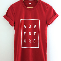 Adventure Maroon Graphic Unisex Tee