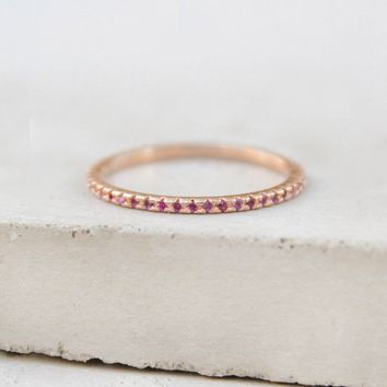 Eternity Ring - Rose Gold + Ruby