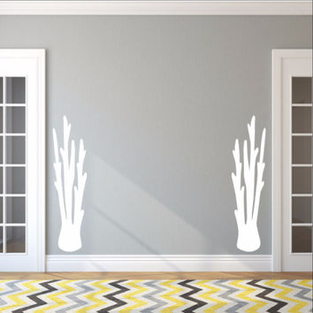 Tall Coral Set of 2 Vinyl Wall Decals 22569