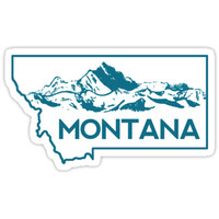 'Montana Mountains' Sticker by baileymincer