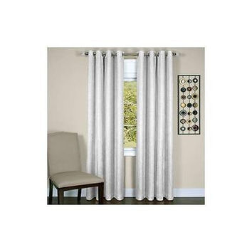"Achim Taylor Lined Grommet Curtain Panel 50"" X 63"" White"