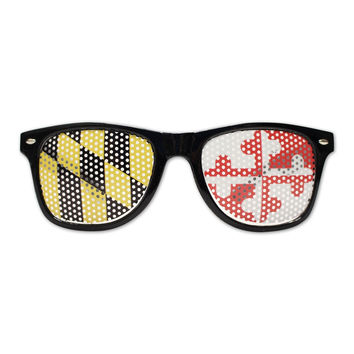 Black Maryland Flag LOGO Lenses / Sunglasses