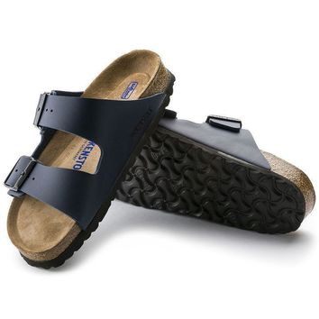 Sale Birkenstock Arizona Soft Footbed Birko Flor Blue 0051061/0051063 Sandals