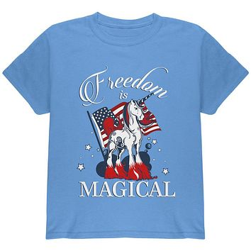 4th Of July Freedom Is Magical Unicorn Youth T Shirt