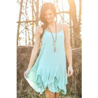 Smooth Transition Dress-Mint