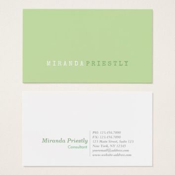 Professional Consultant Modern Simple Minimalist Business Card